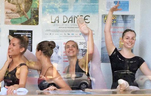 Ballet Dancers at the window of Studio simoncini